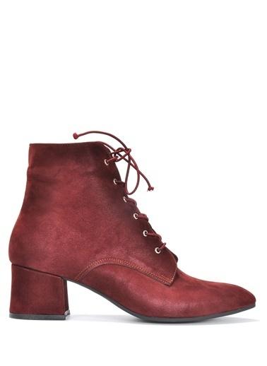 Vizon Ayakkabı Bot Bordo